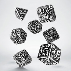 Набор кубиков Forest 3D White & black Dice Set (7)
